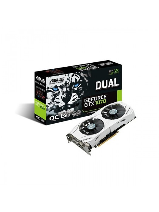 Placa de Vídeo Nvidia Geforce GTX1070 8GB OC DDR5 ASUS DUAL-GTX1070-O8G