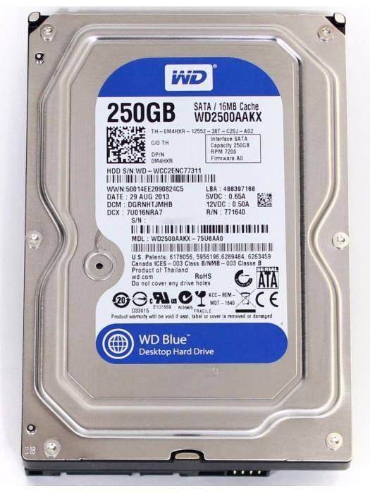 HD 250GB SATA II 7200RPM WESTERN DIGITAL BLUE